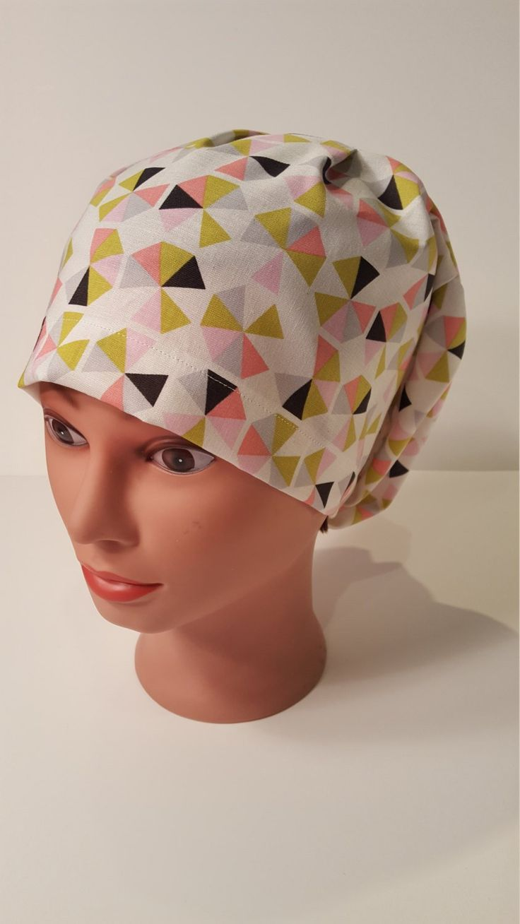Summary Backyard Pinwheel Euro scrub cap, surgical hat, nurse reward, chemo cap, vet, surgical cap, chef, OR caps, girls scrub hat, cotton