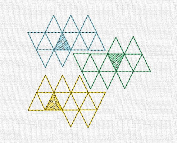 Geometric Triangles Embroidery Machine Design by EmagineDesigns, $3.00