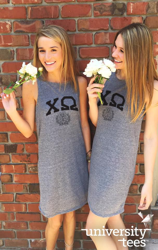 Stop and smell the roses! | Chi Omega | Made by University Tees | universitytees.com