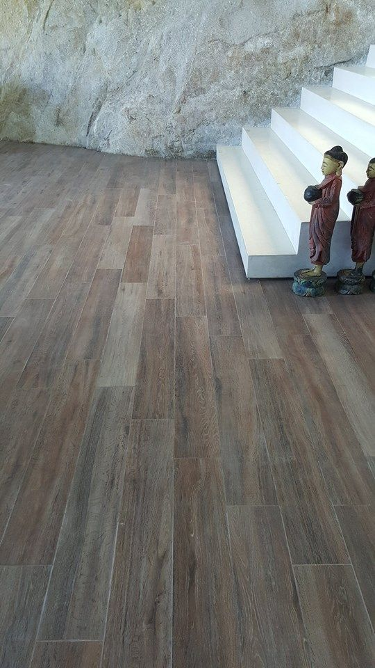 Cooperativa Ceramica d'Imola #Wood 161R Size 165x1000mm installed in this stunning west coast #Phuket villa Thailand, please contact: https://www.facebook.com/tileitthailand/