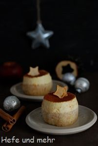 Zimtmousse-Törtchen mit Apfelcurd-Füllung