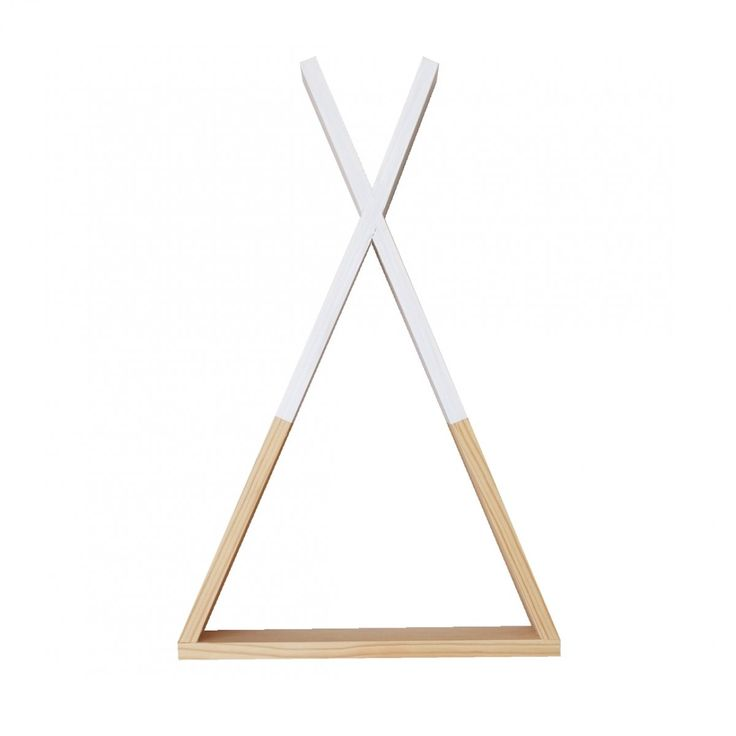 Tipi wandplankje wit 55cm hoog (extra groot) | Petite Amélie