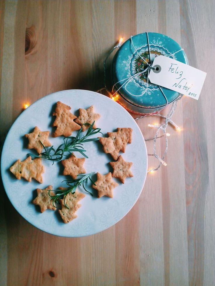 Cheese and rosemary cookies for Xmas!
