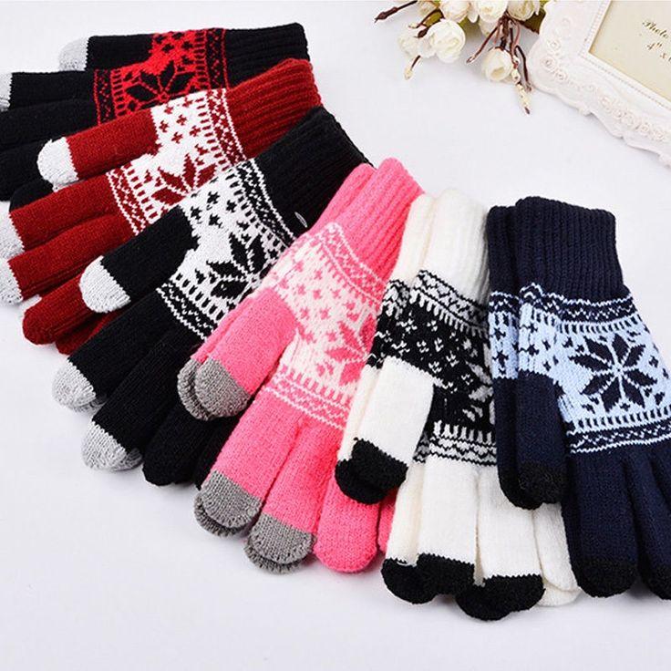 hirigin 2018 Newest Arrivals Warm Winter Gloves Knitted Touch Gloves Men Women Gloves Touch Screen Fashion Glove