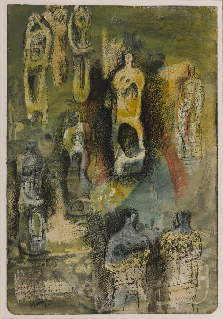 HENRY MOORE - Standing Figures 1940