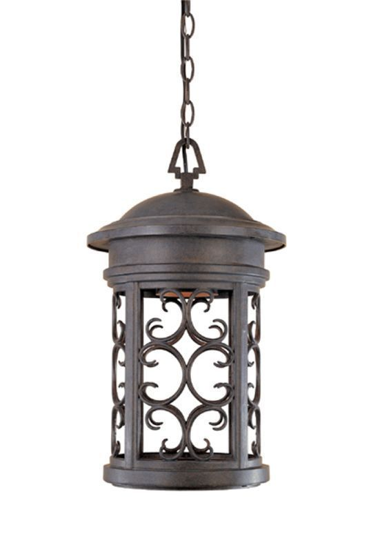 "Designers Fountain 31134-MP 1 Light 11"" Hanging Lantern from the Dark Sky Barrin Mediterranean Patina Outdoor Lighting Wall Sconces Outdoor Wall #Wall-HangingFountains"