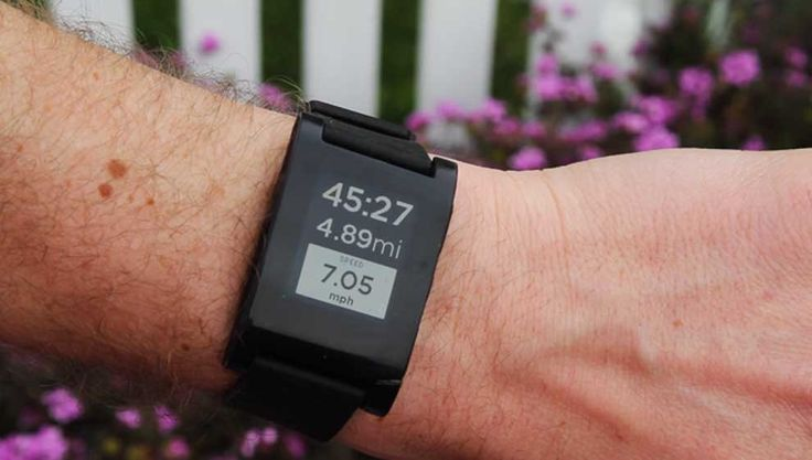 Pebble Smartwatch: Kickstarter-funded Pebble announced that its smartwatch.  Pebble's watch is configured for cycling, running, golf rangefinding, music controlling, emailing, caller ID, and, well, time-telling. It can be customized with code, and a variety of apps are available through the Pebble watch app store.