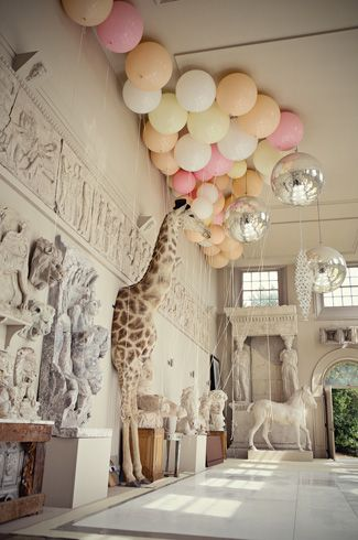 adorable room with balloons