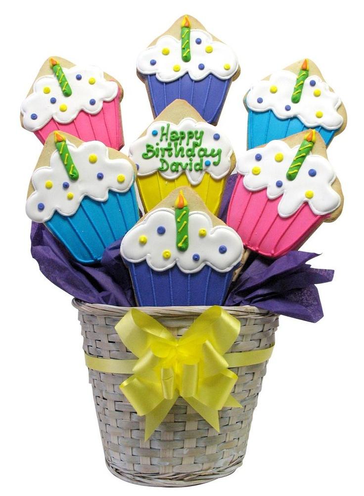 219 best Cookie Bouquet images on Pinterest Cookie bouquet