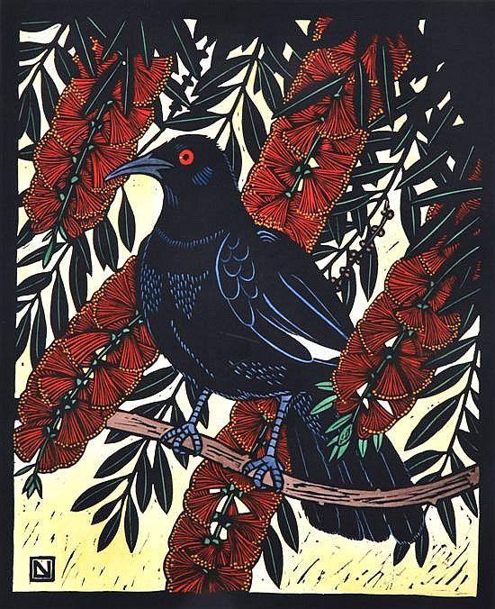 .Graphics - Leslie V. Van Der Sluys - Australian Art Auction Records A Chough?