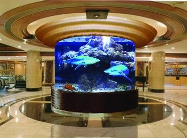 Custom Fish Tanks Picture From Suzhou Xingcheng Aquarium Technology Co.  View Photo Of Cylinder Acrylic Aquarium, Cylindrical Acrylic Aquarium,  Cylinder Fish ...