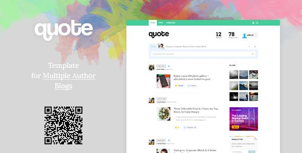 Quote Template For Multiple Author Blog  Web