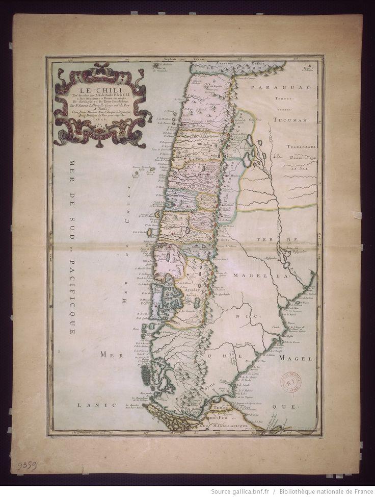 Le Chili / tiré de celuy que Alf. Oualle P. de la C. d. I. a fait imprimer a Rome en 1646 et distingué en ses treize Juridictions par N. Sanson d'Abbeville | Gallica