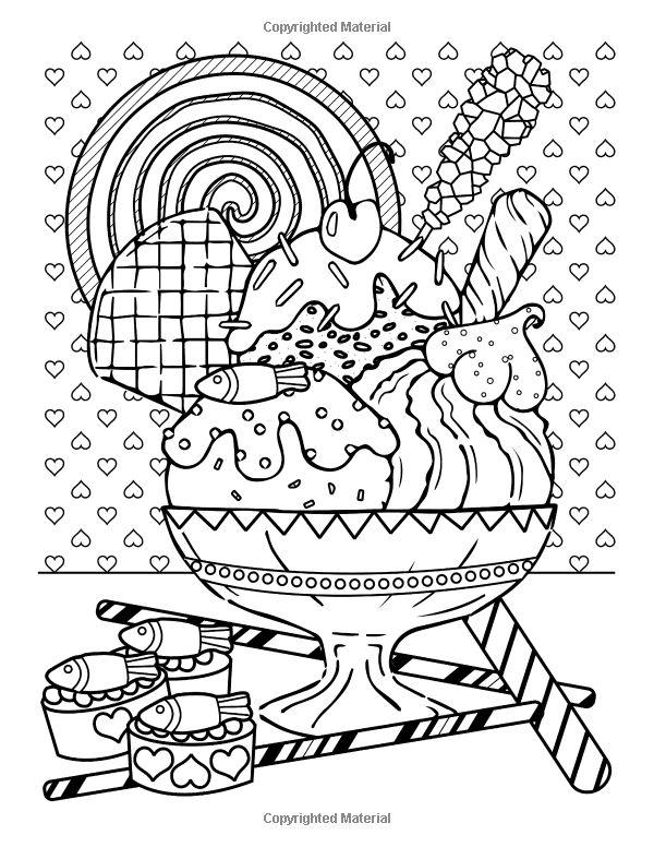 Amazon.com Мир Конфеты Книжка-Раскраска: 24 Милая ...