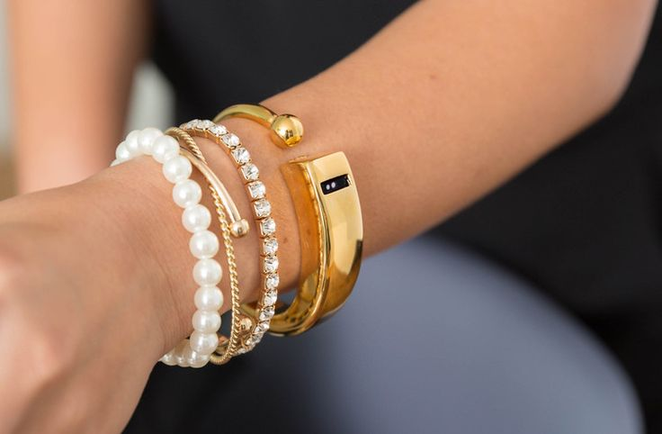 Cuff bracelet for the Fitbit Flex. Count your steps in style!