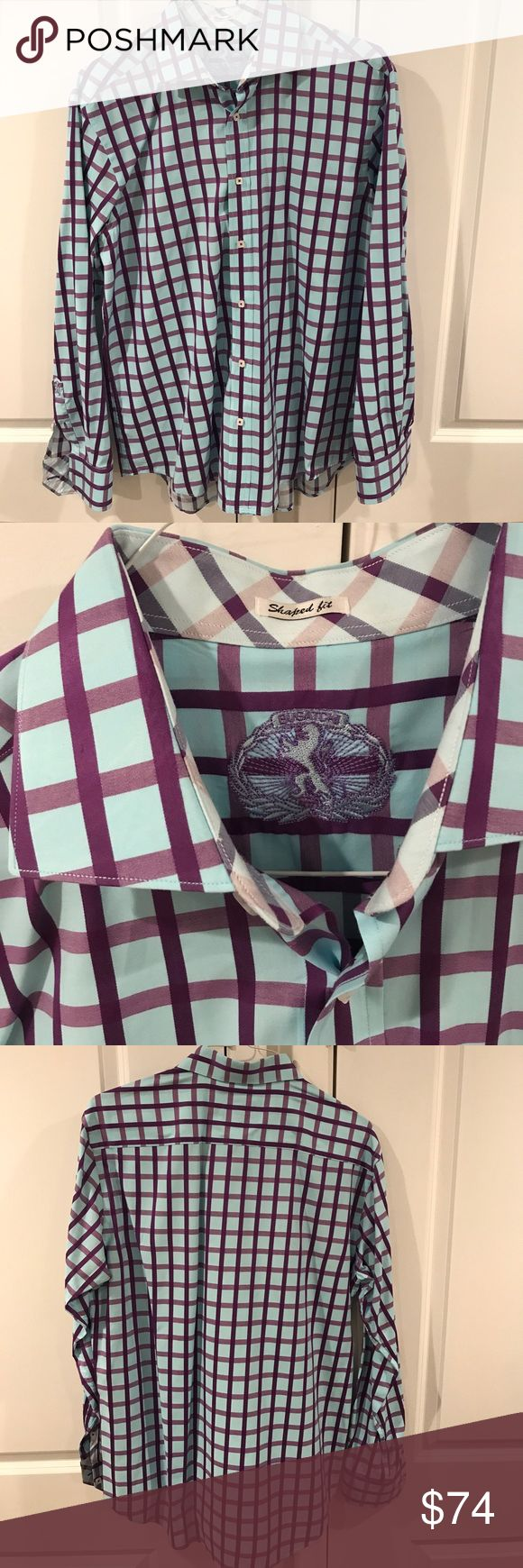 🚀 Bugatchi Uomo Large Shaped Fit Button Down Bugatchi Uomo Large Shaped Fit Button Down Shirt. This shirt has been worn very few times and is in excellent condition. Please ask if you have any questions and bundle for a better deal! Thank you 🚀 Bugatchi Shirts Casual Button Down Shirts
