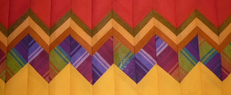 Seminole quilt tutorial - Kaffe Fasset fabrics