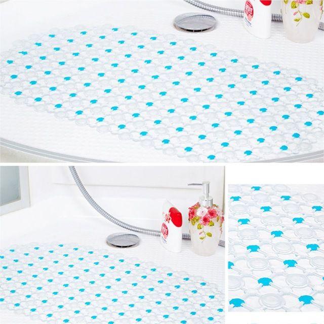 Shower Tub Floor Bubble Mat Bathroom Safety Non Slip Rubber Suction Cup AQUA