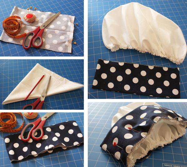chef hat tutorial--we made some for the kids several years ago; want to see how this compares.