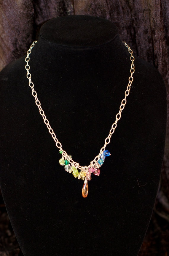 POP of Color Necklace by JewelrybyMKDesigns on Etsy