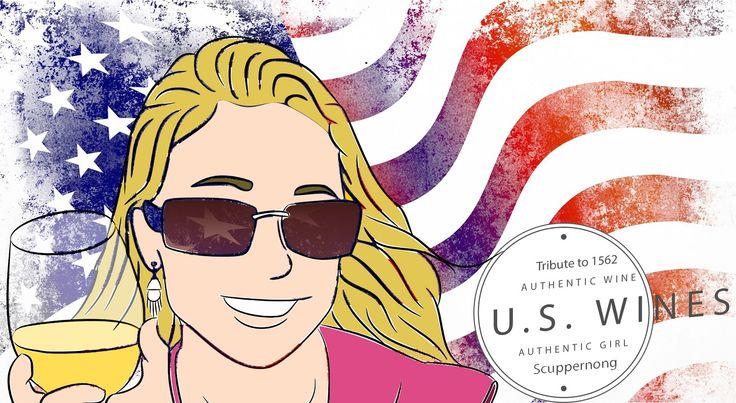 Tribute to #US #wine / Tributo al #vino estadounidense. #Design #Art #WineExport #EEUU #Jacksonville #1562