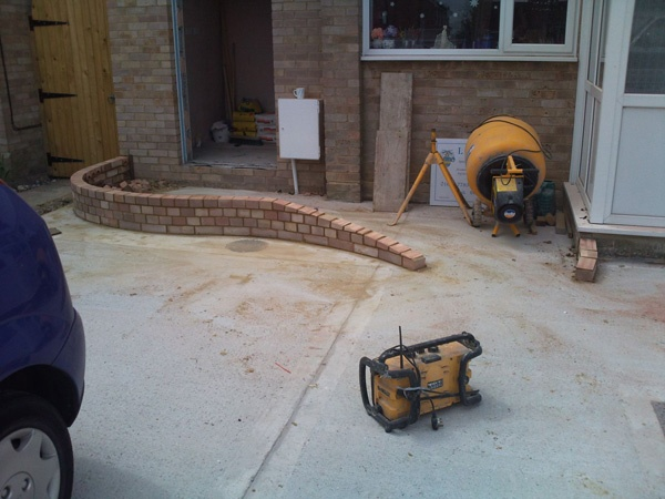 how to build a brick ramp