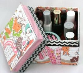 Gauche Alchemy - altered box for nail polish - Linda Brun