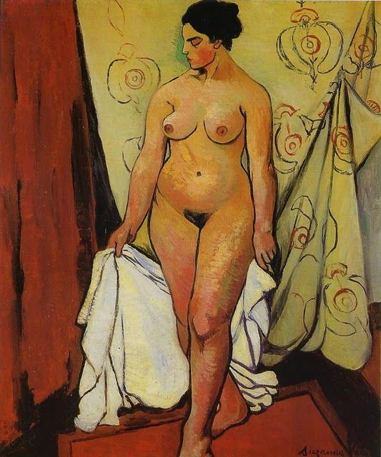 Nude Woman with Drapery - Suzanne Valadon, 1919