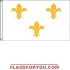 High Wind, US Made French Fleur-de-Lis (White) Flag 5x8