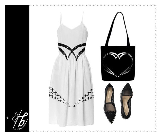 """""""Black & White Dreams"""" by bgmmstore ❤ liked on Polyvore featuring Nicholas Kirkwood"""