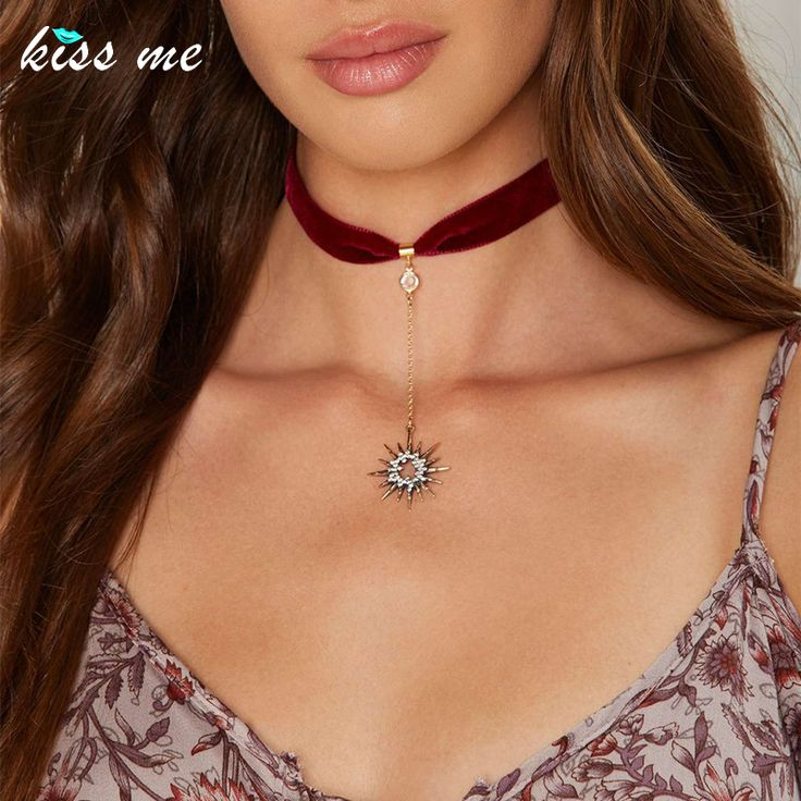 Aliexpress.com : Buy KISS ME Trendy Crystal Stars Pendant Red Ribbon Choker Necklace Hot Sale Women Jewelry Accessories from Reliable ribbon choker necklace suppliers on KISS ME Official Store