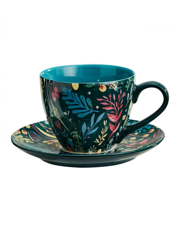 ODETTE NIGHT CERAMIC CUP & SAUCER Mozi - Australian lifestyle and designs