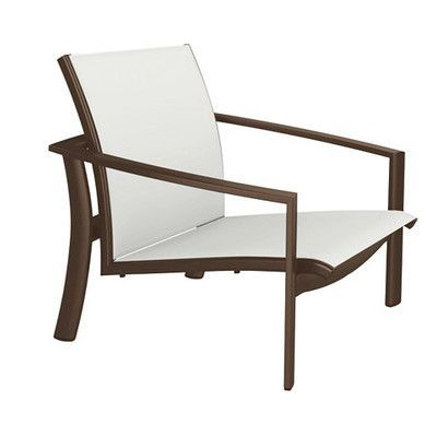 Tropitone KOR Relaxed Sling Spa Chair Seat Color: Bogota, Frame Finish: Greco