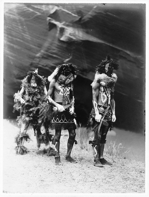 Native American Edward Curtis Navaho Yebichai War Gods by griffinlb, via Flickr