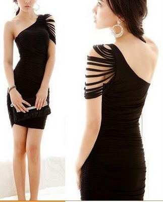 One shoulder. CUTE. I think I would actually be able to handle this without freaking out about being uneven! [mhm]