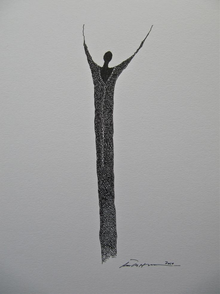 Åse Margrethe Hansen/Praise. Ink drawing, 2010