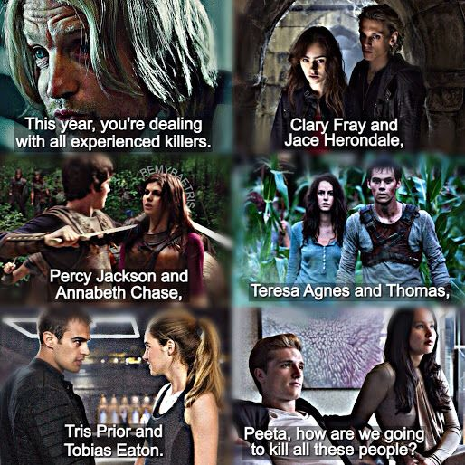 FANDOMS UNITE!! (Hunger Games, Mortal Instruments, Percy Jackson, Maze Runner, Divergent)
