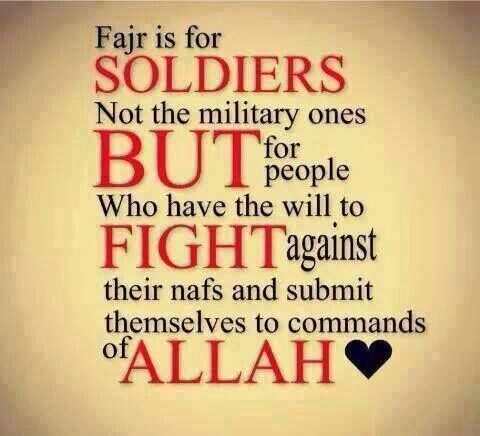 Praying Fajr