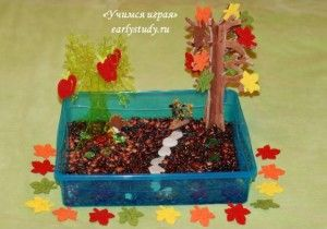 Осенняя сенсорная коробочка