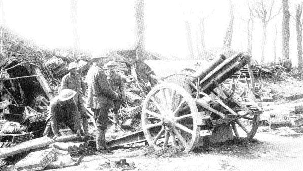 WW1 - Canadian artillery at Vimy