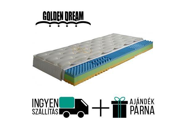 Golden Dream Sendo vákuum matrac, 5 ergonómiai zónával. A matrac kemény konfort érzetű, 16 cm magas, 120 kg-ig terhelhető.  A gyártó 5 év garanciát vállal.  http://matracom.hu/termekek/hideghab-matracok/golden-dream-sendo-vakuum-matrac/