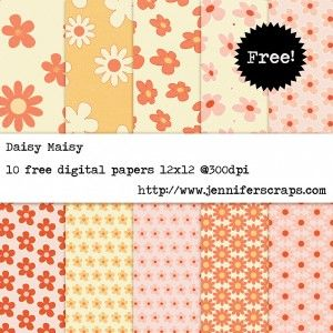 Daisy Maisy - Freebie Paper pack of the day