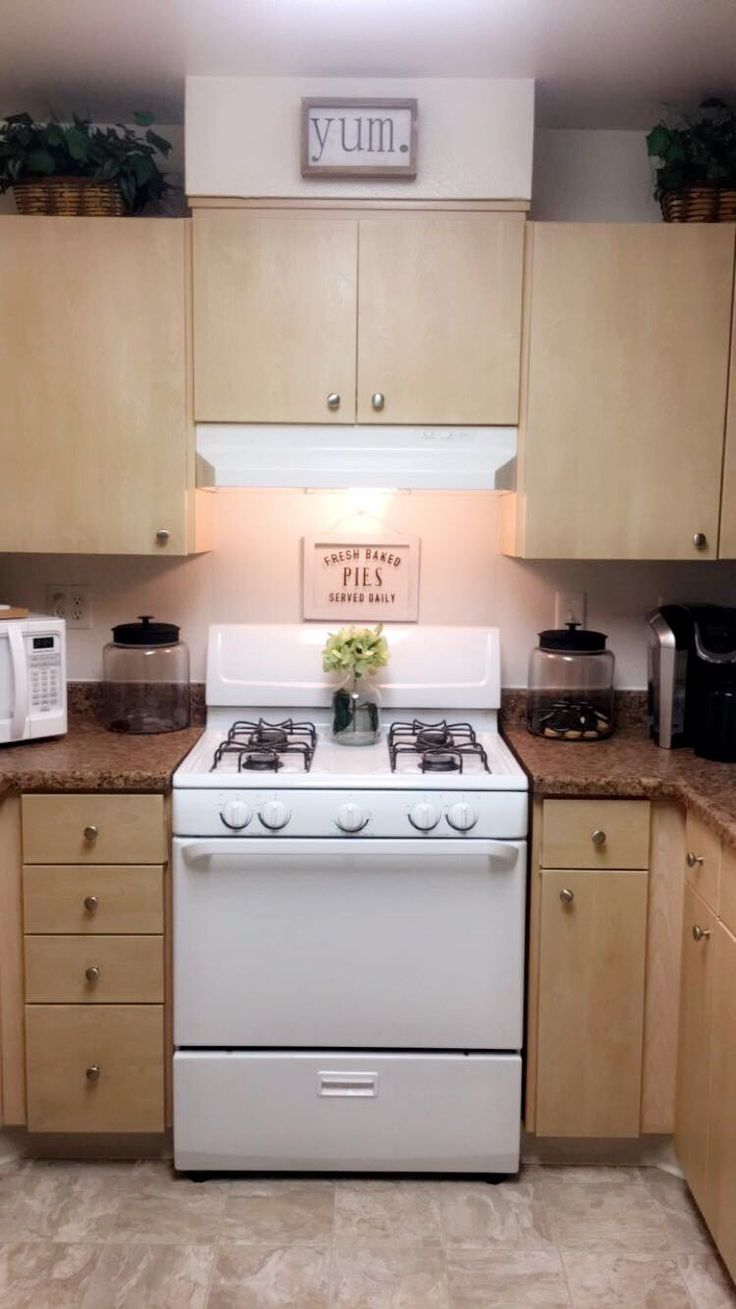 Kitchen decor- military housing