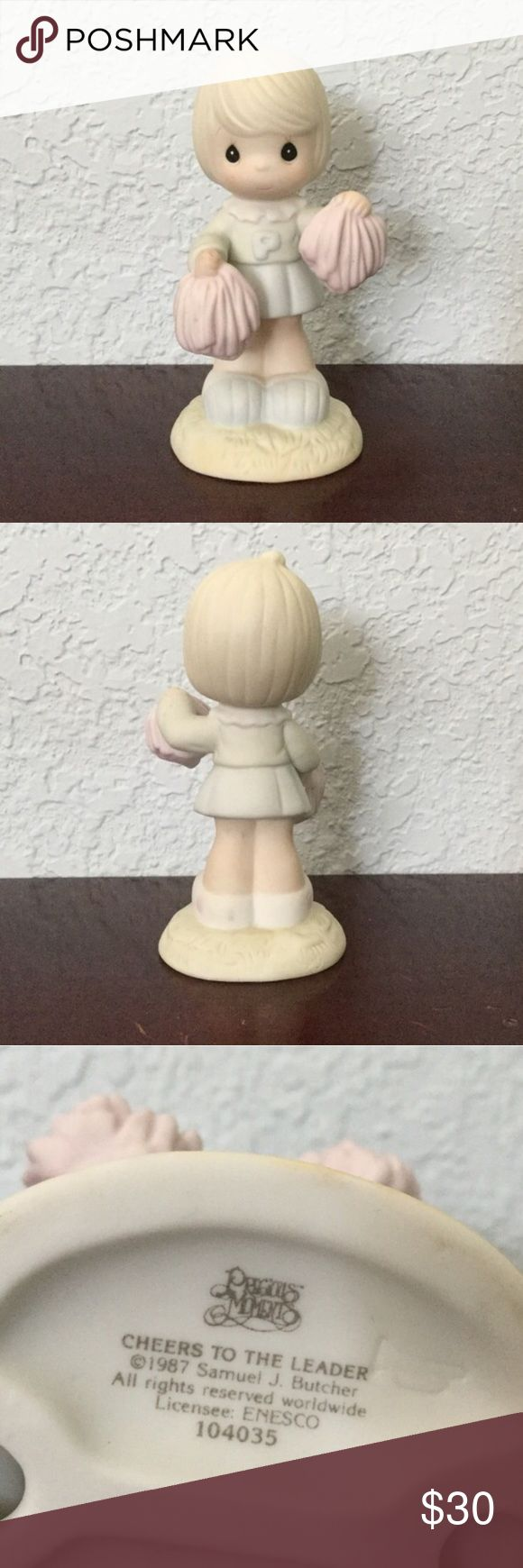 """Precious Moments Precious Moments cheerleader statue. """" Cheers to the Leader """" @1987. Box not included.  ✓ NO Trades / Merc / PP / etc. ✓ Offers welcome ✓ Bundle discounts available ✓ Top 10% seller ✓ Most orders shipped within two days - never longer than five days Precious Moments Other"""