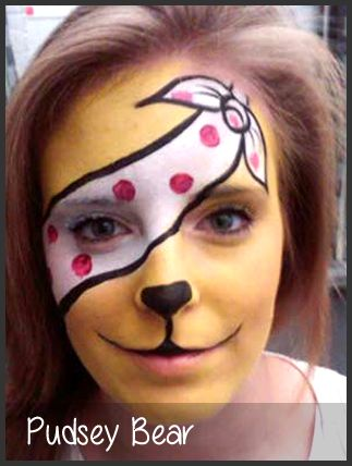 pudsey face painting by mimicks