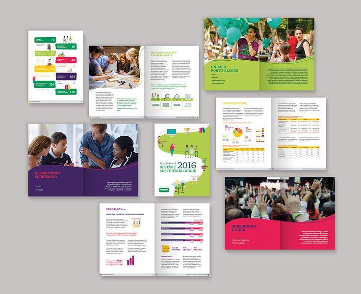 Relatório de Gestão e Sustentabilidade Unimed POA on Behance