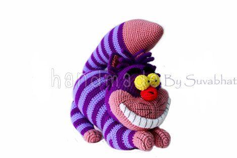 Cheshire Cat Amigurumi Crochet Pattern : Pattern Crochet Cheshirecat PDF File...Instant by Suvabhat ...