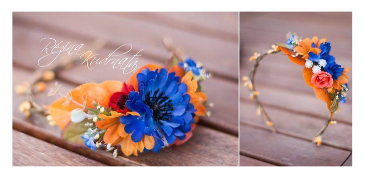 Květinová čelenka, květinová korunka, flowers headband, flowers crown