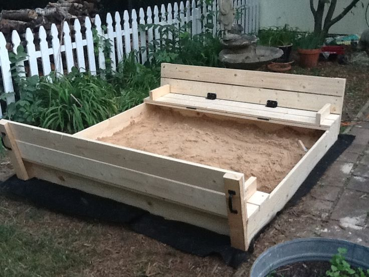25 unique sandbox diy ideas on pinterest sandbox ideas sandpit sand and sandpit ideas. Black Bedroom Furniture Sets. Home Design Ideas