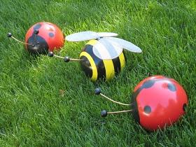 WedeWorks: Bowling Ball Bumblebee And Ladybug